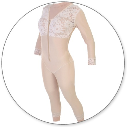 2b77b30c6a2 Mid Calf Body Shaper with Sleeves - Contour MD Style 28S